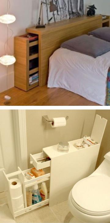 Блестящие идеи хранения вещей в доме, о которых вы не догадывались...