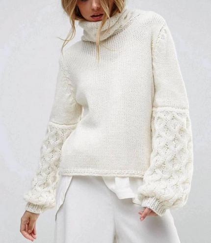 Для тех, кто вяжет: идеи модных фасонов свитеров...