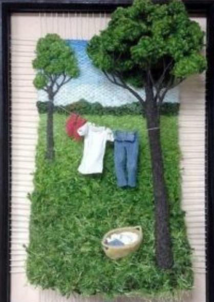 Ткачество + валяние = невероятно реалистичные картины...
