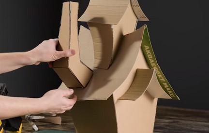 Потрясающий волшебный домик из обычного картона...