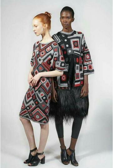 Из воздуха и пряжи: одежда от дизайнеров, связанная крючком...