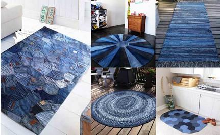 Переделываем джинсы: стильные ковры на все случаи жизни...
