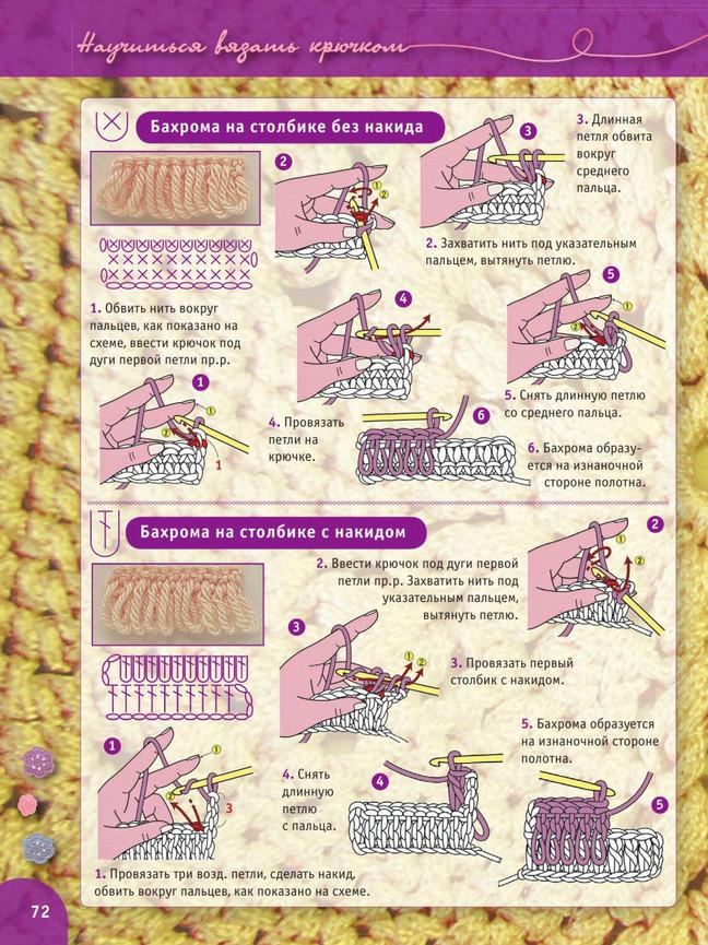 Вязание крючком. Пошаговый самоучитель более 2000 иллюстраций для начинающих своими руками